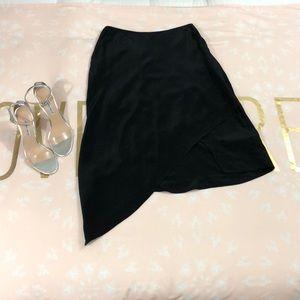 Allsaints silk abstract skirt 4 nwot